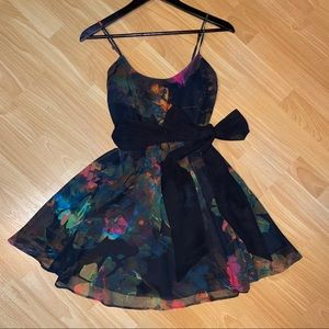 Floral spaghetti strap dress